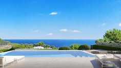 Unique designer villa with stunning sea view and walking distance to La Fustera Beach