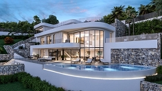 Superb quality designer villa with spectaculair sea views