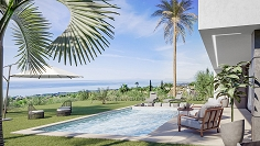 Stunning contemporary sea view villas walking distance to the beach
