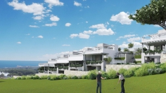 Design townhouses met golf- en zeezicht in Cabopino