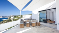 Stunning Ibiza villa with spectulair frontline sea views and touristic license near Es Cubells