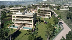 High end designer apartments and penthouses with 5* hotel services in prime location Ibiza