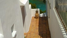 Fully renovated townhouse overlooking the bay and beach of Cala Vadella