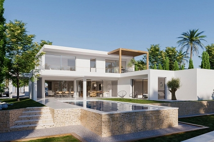Stunning new build designer villa with beautiful sea views