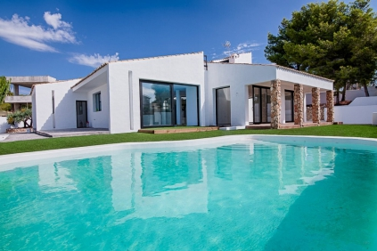 Large fully renovated Ibiza style villa close to La Fustera Beach