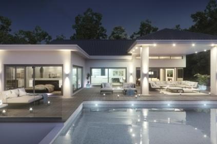 Nieuw te bouwen moderne villa met zeezicht