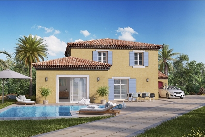 Lovely new build villas close to St.Tropez in private domain, walking distance from the beach