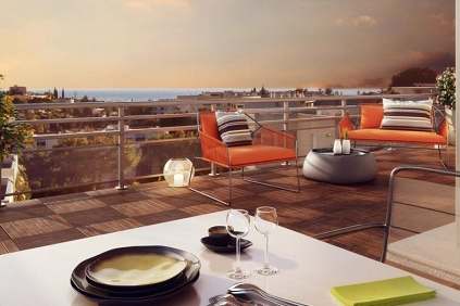 Fantastisch nieuwbouw penthouse met dakterras in het hart van Antibes