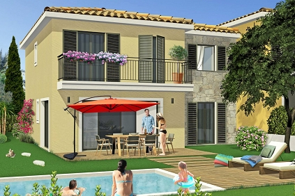 New build houses in a unique location just a stone's throw from Saint Tropez!