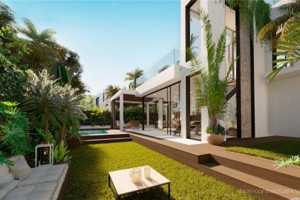 Schitterende nieuwbouw Ibiza villa op 200 meter van het strand van Cala Tarida