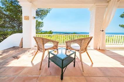 Sfeervol huis met schitterend zicht op zee en de befaamde Ibiza zonsondergangen