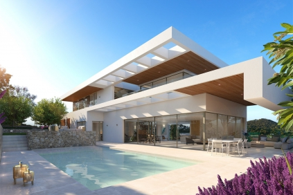 Luxurious high end villas with amazing views close to Ibiza town and the sea