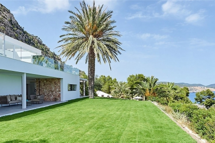 Amazing contemporary Ibiza style villa in Es Cubells with breathtaking views of the sea and Formentera