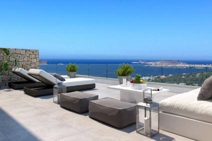Nieuwbouw penthouses Ibiza met schitterend zeezicht