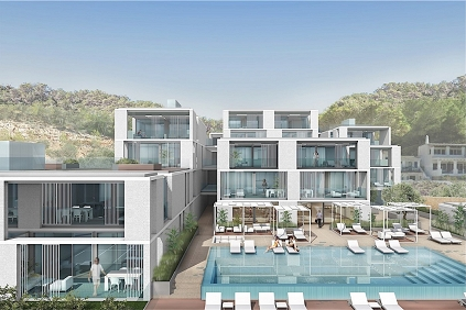 Spectaculaire design appartementen aan het strand in Ibiza!