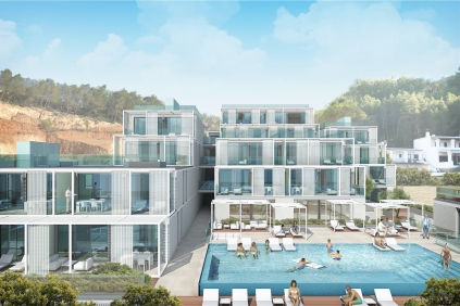 High tech design appartementen aan het strand in Ibiza!