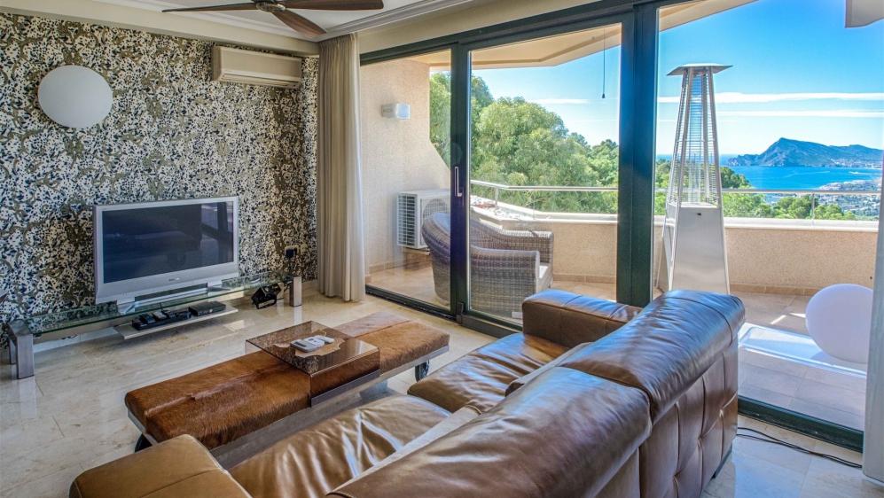 Prachtig appartement op het zuiden met spectacular uitzicht op Altea vanaf zeer ruim terras