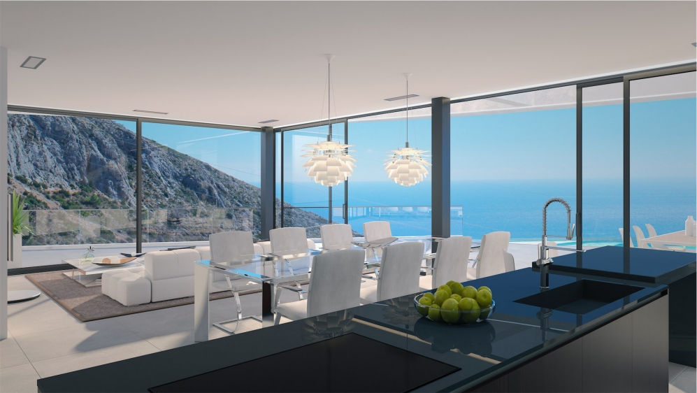 Magnificent designer villa with stunning sea views between Altea and Calpe