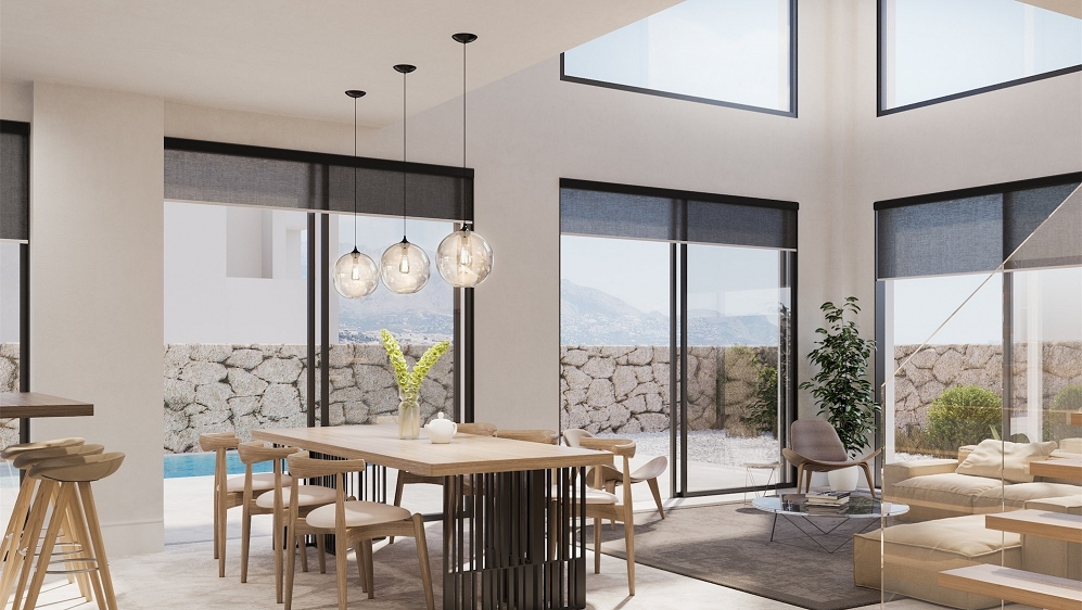High quality new build villas for sale walking distance to Albir beach and centre