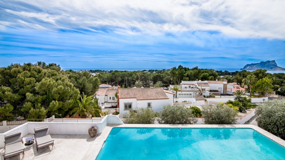 Stunning Ibiza style villa with beautiful sea views