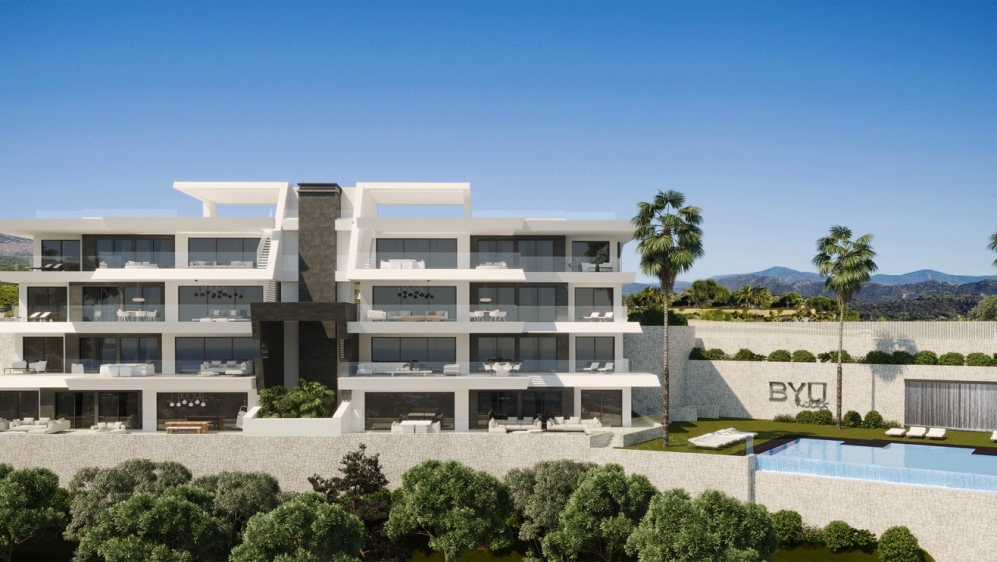 High end apartments and penthouses with a maximum of privacy and stunning sea views