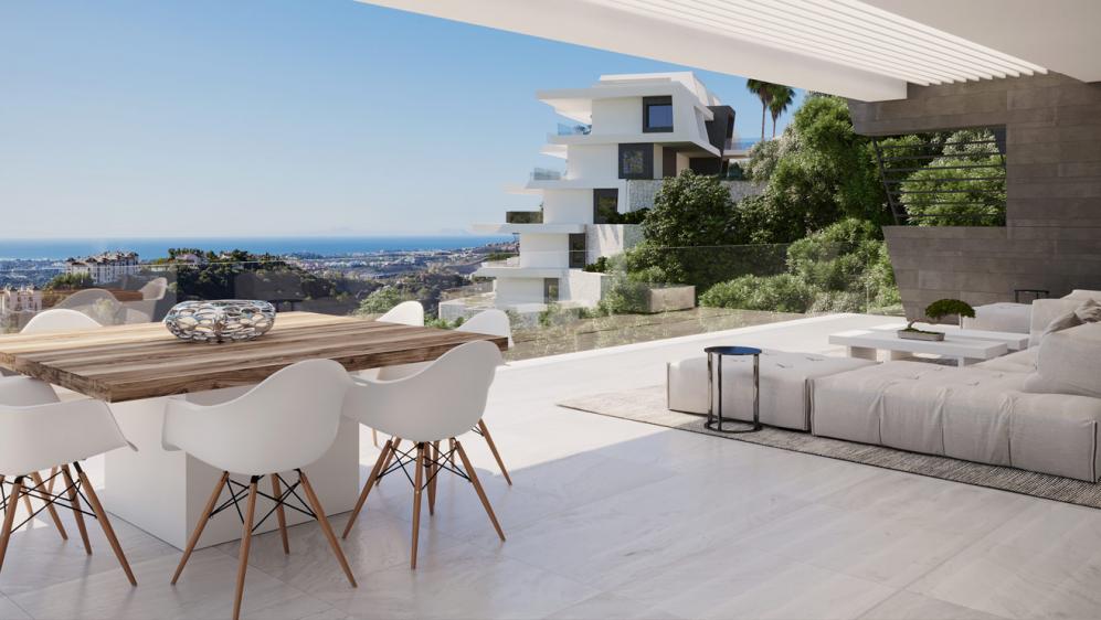 Maximale privacy en adembenemende uitzichten in dit fraaie boutique stijl project