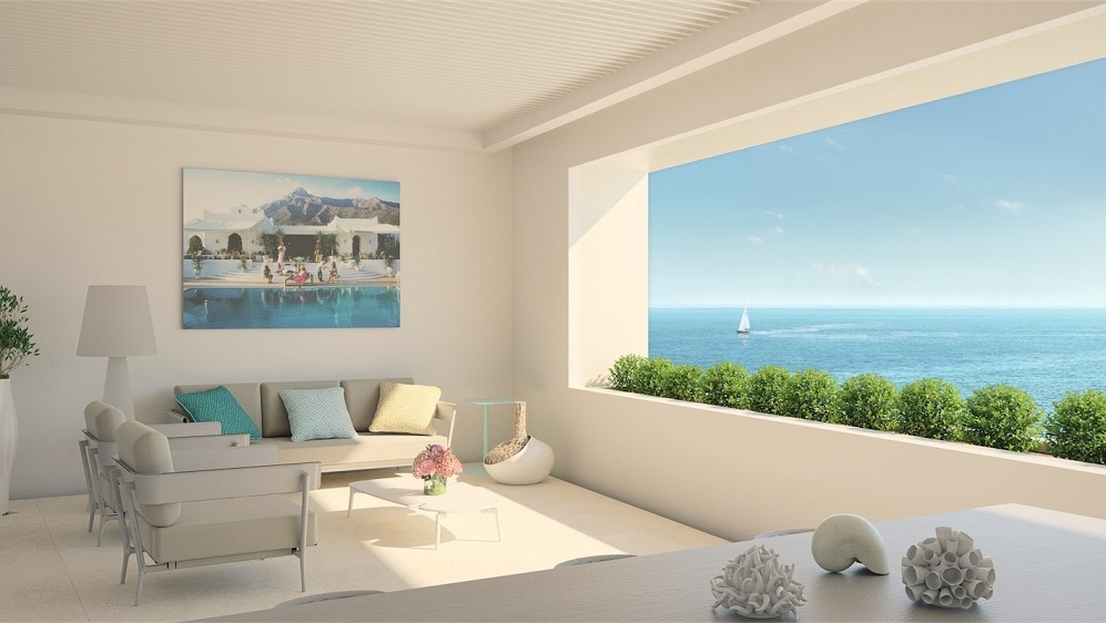 Striking contemporary apartments located right on the Seafront Promenade of Estepona