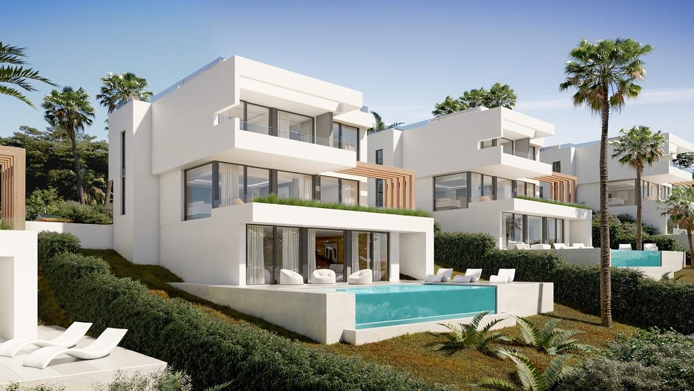 Contemporary designer villas with stunning views in La Cala Golf resort for competitive price