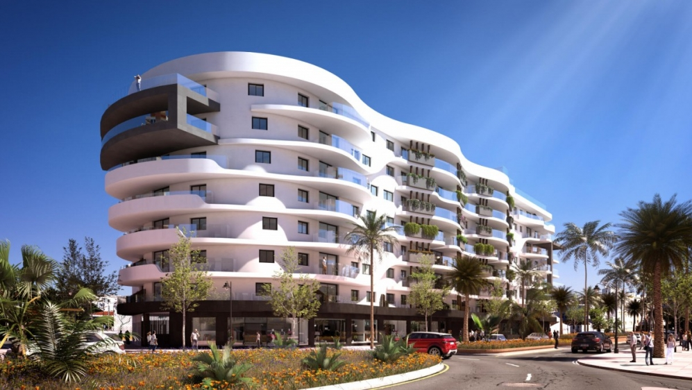 Contemporary city apartments close to the beach