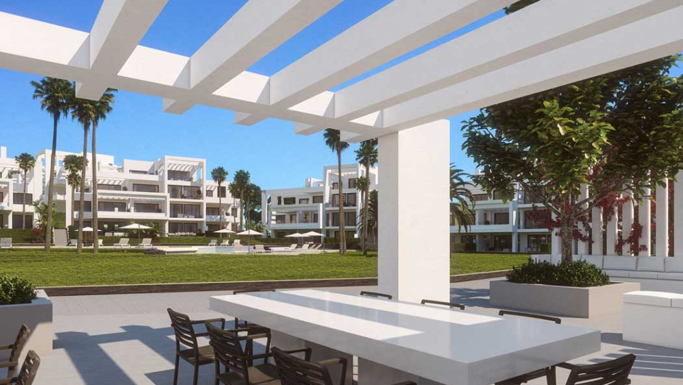 Contemporary new build apartments next to Atalaya golf