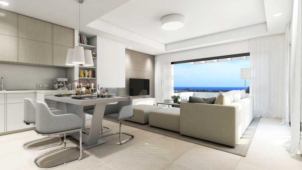 Moderne nieuwe appartementen met golf & zeezicht