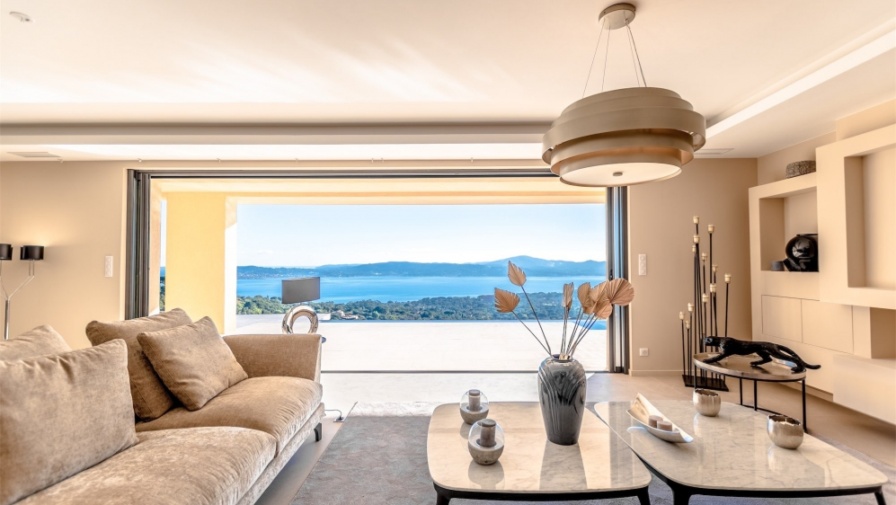 Stunning contemporary villa offering the most amazing views of St.Tropez bay