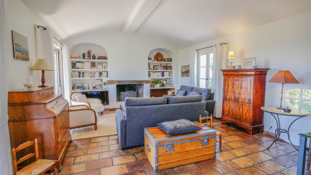 Super charmante Provencaalse villa met zeezicht op loopafstand van het strand en Port Grimaud