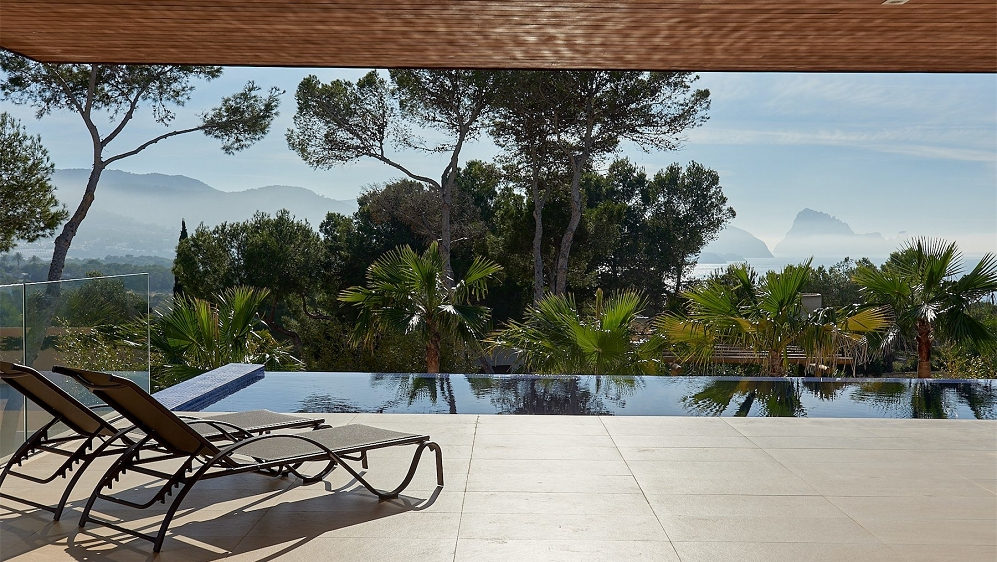 Luxury Ibiza style villa with private Spa and spectacular Es Vedra views