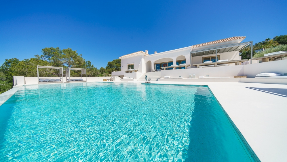 Stunning sea view villa close to Cala Tarida beach