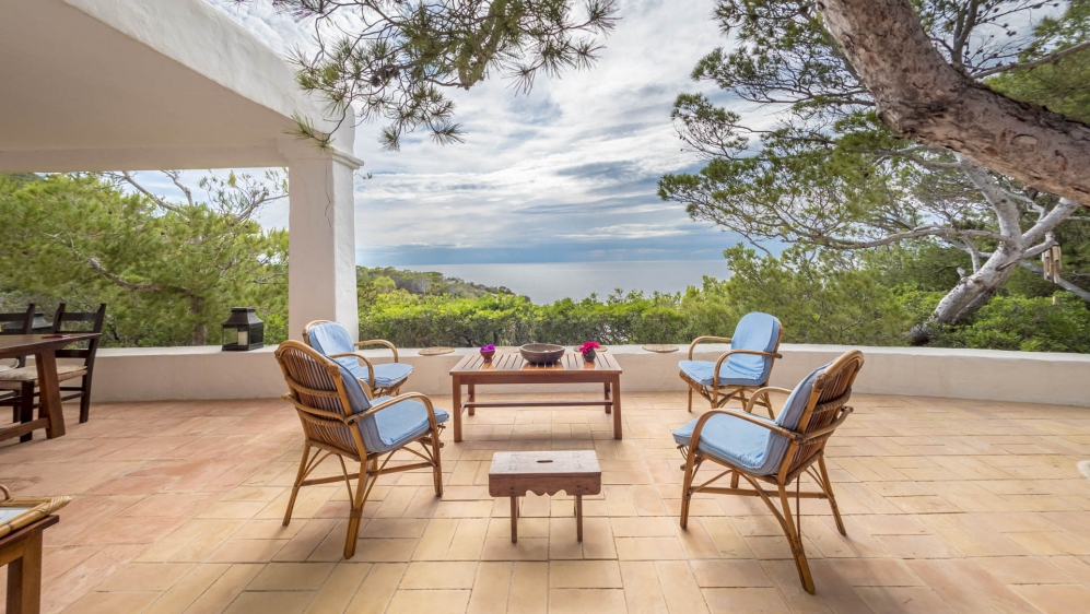 Unique charming Ibiza villa with astonishing views and private access to the sea