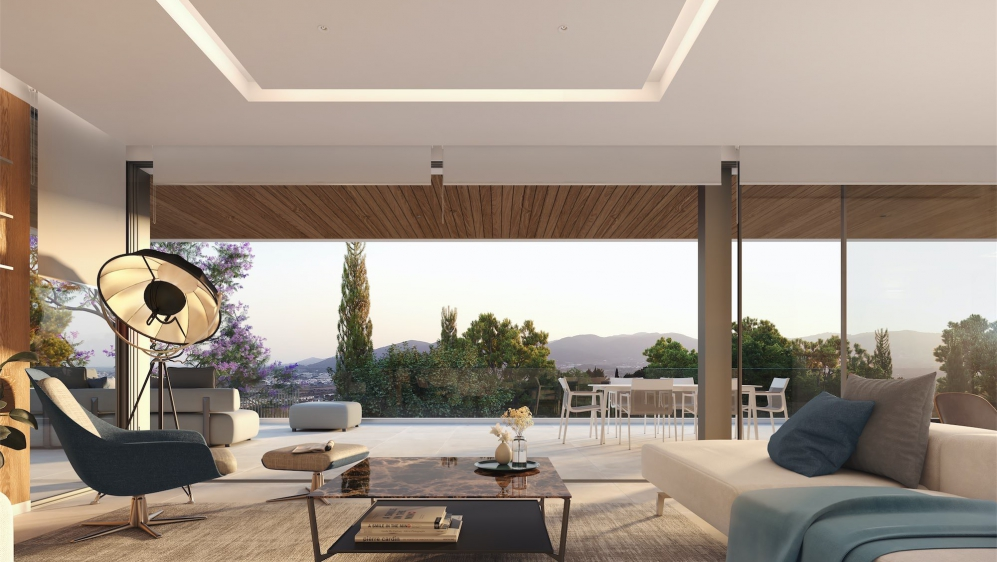 Back on the market: Luxurious high end villa with amazing views close to Ibiza town and the sea