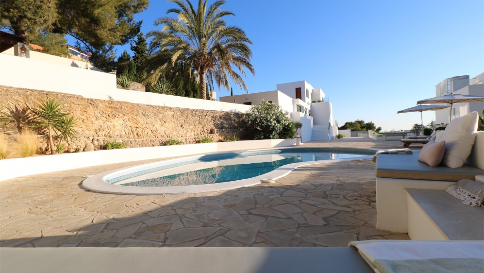 Beautiful modern property in Can Pep Simo overlooking Ibiza town and the sea