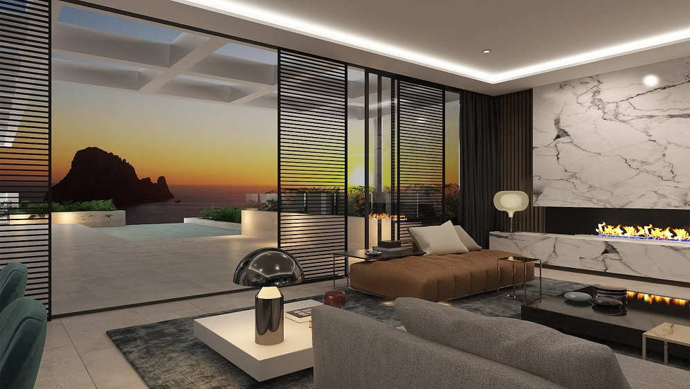 Stunning new build high tech design villas with amazing views of Es Vedra