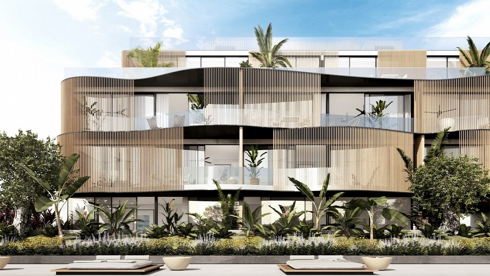 Best priced new build designer apartment located just 150m from Talamanca beach