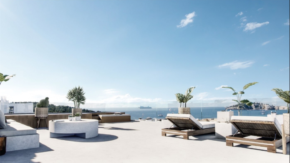 Stunning designer penthouse with roofterrace and private plunge pool very close to Talamanca beach