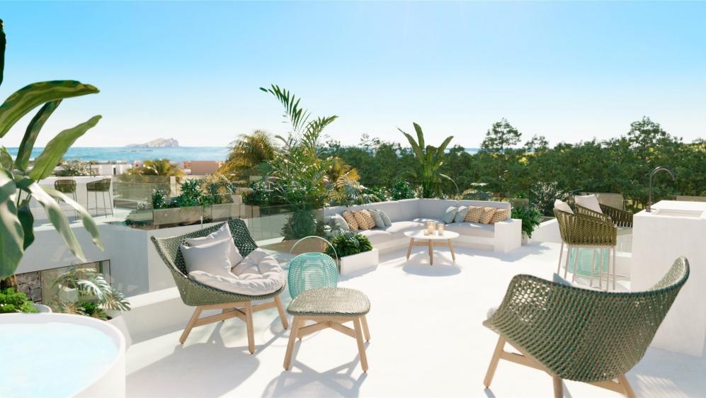 Stunning new build Ibiza villas with beautiful sea views at walking distance from the beach in Cala Tarida