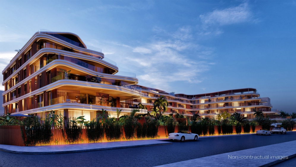 Iconic high end designer apartments with 5* hotelservices just 100 m from the marina