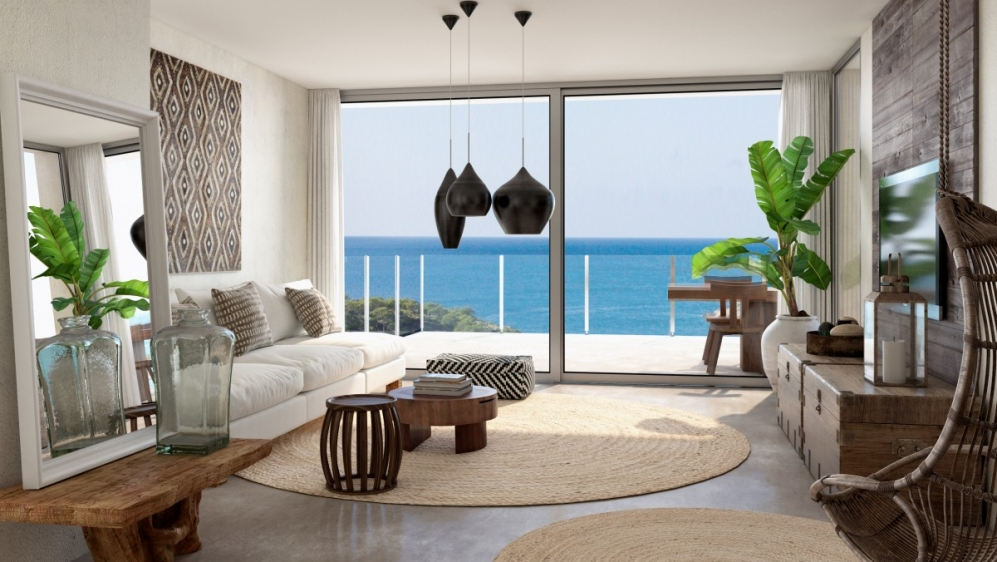 New build apartments with sea view short walk to the beach