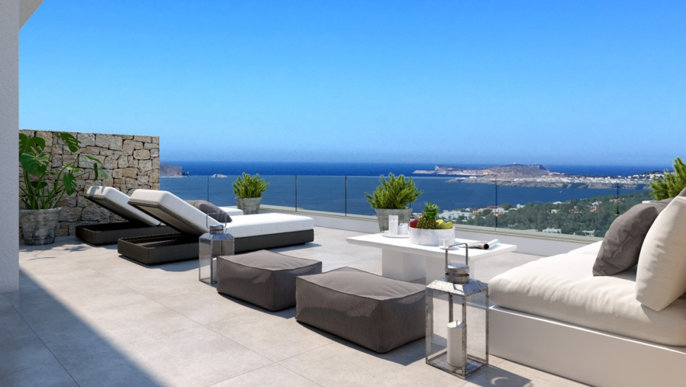 Modern new build penthouse with stunning sea view