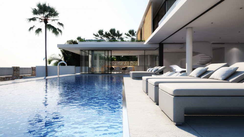 Luxury designer villas with sea view on top location Ibiza town